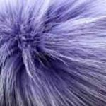 Lilac dyed fox
