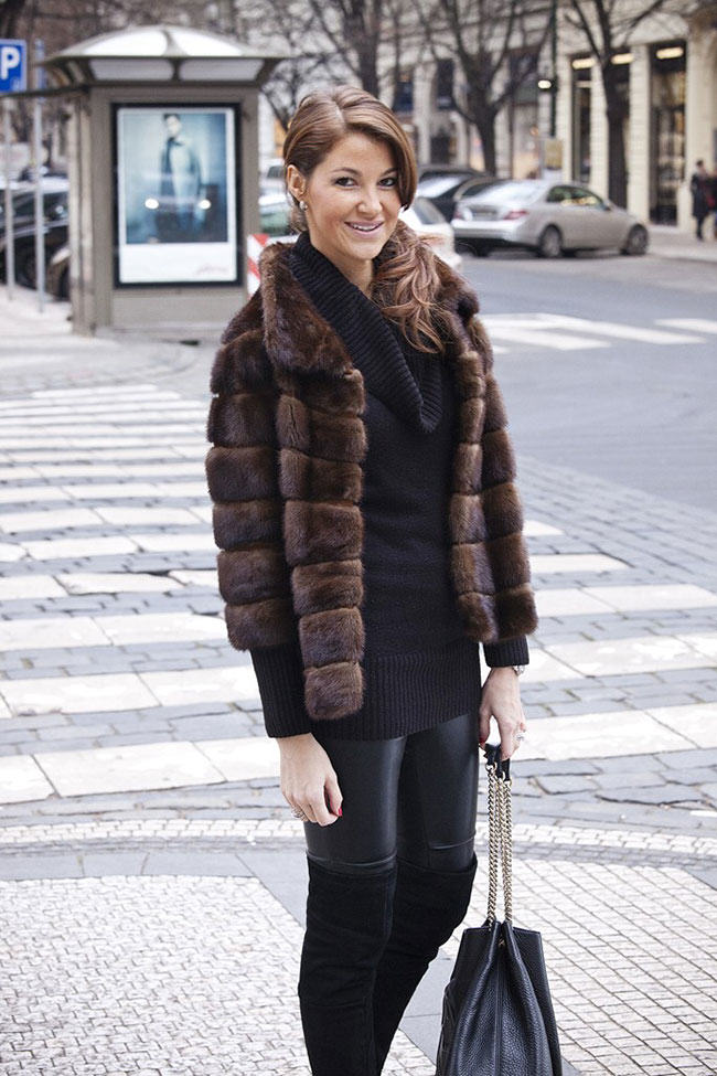 fur in the news, fur street style. fur coat