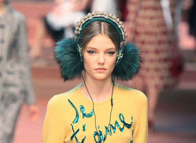 fur in the news2, dolce gabbana, fur headphones, fur accessory
