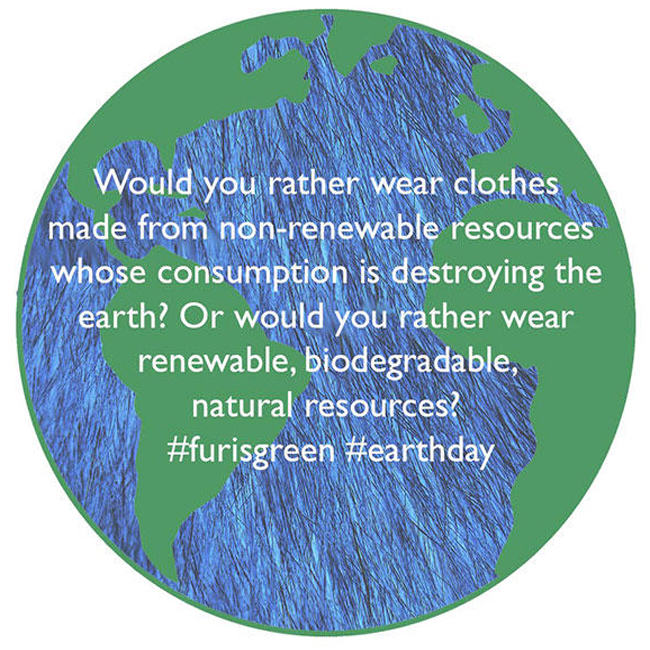 fur in the news, earth day, fur is green, renewable, fur coat