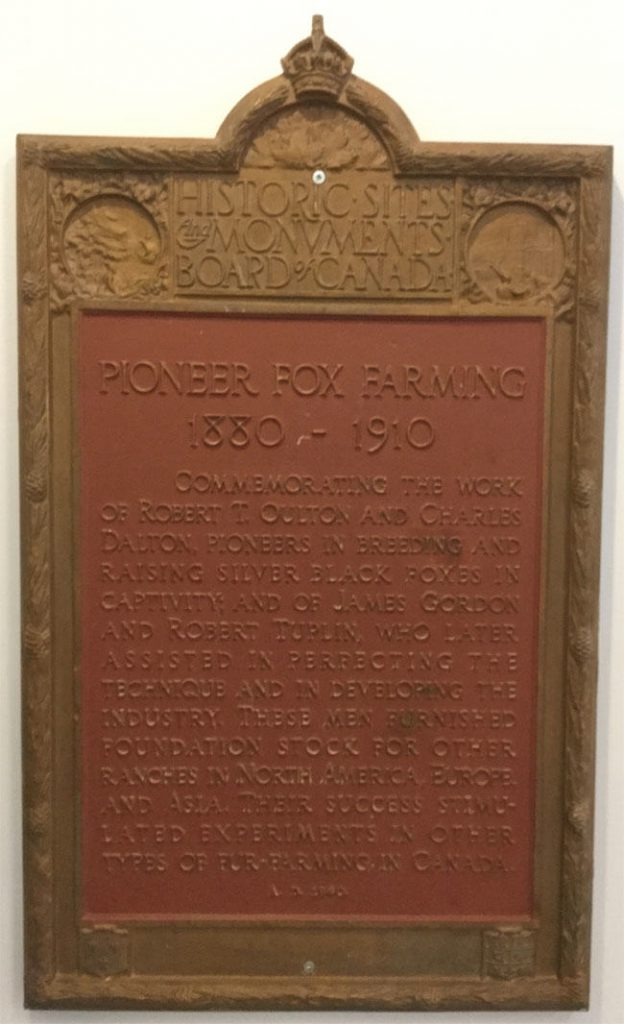 fox farming, Robert Oulton, Charles Dalton, Prince Edward Island