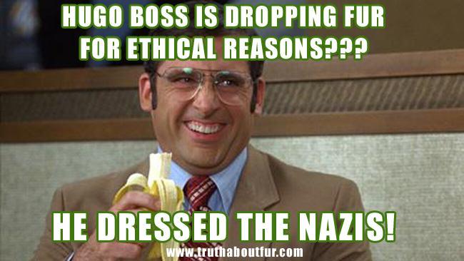 animal rights, fur, hugo boss, nazi