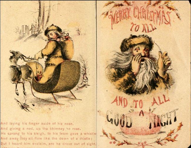 santa wears fur, santa, fur, christmas