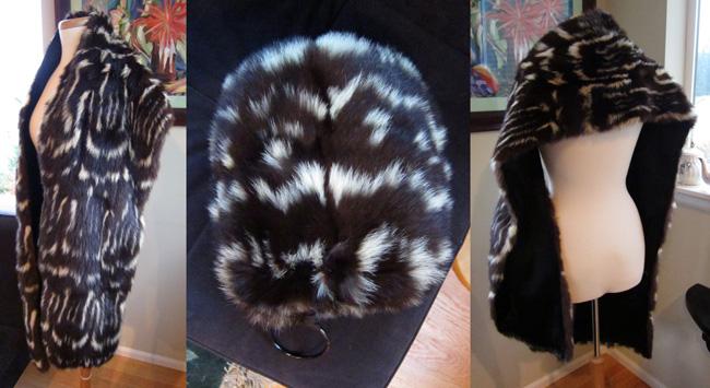 Lady Violette, skunk fur, vintage fur
