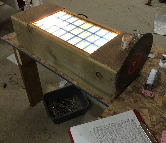 light box, blood sample, mink farm