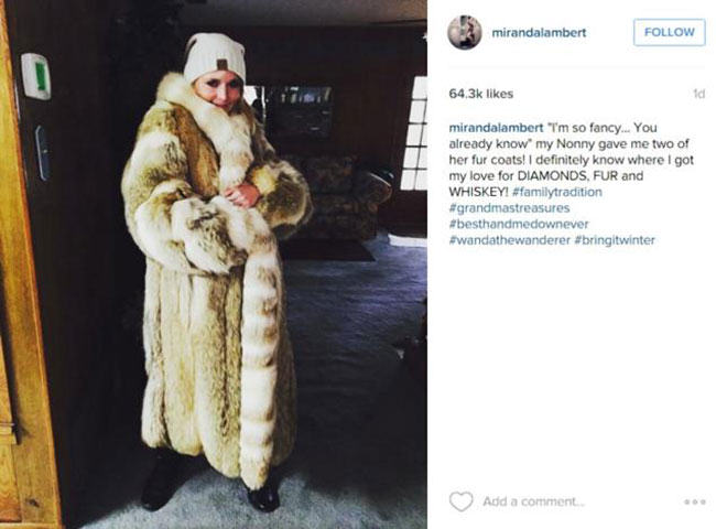 fur coat, michelle lambert, vintage fur, celebrities in fur, fur in the news
