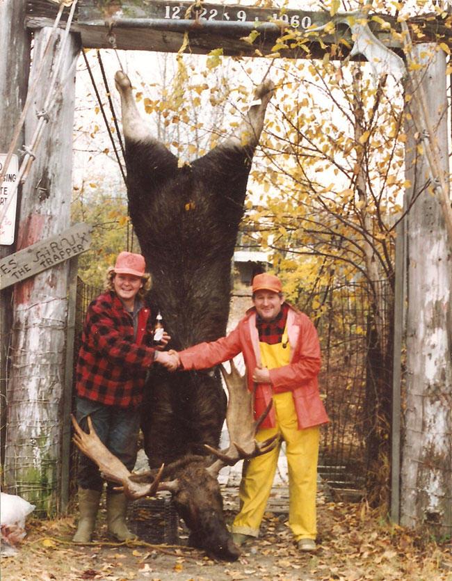 Alcide Giroux, Ontario, moose