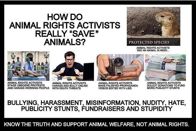seriously stupid, peta, animal rights, fur in the news, fur trade, farming, trapping, animal rights activists