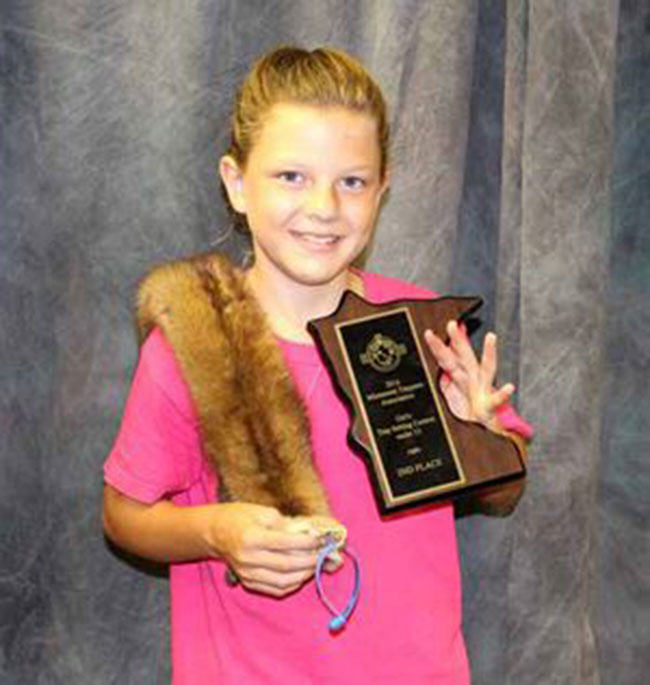 Leah Remer, young trapper, trapping, wildlife, youth