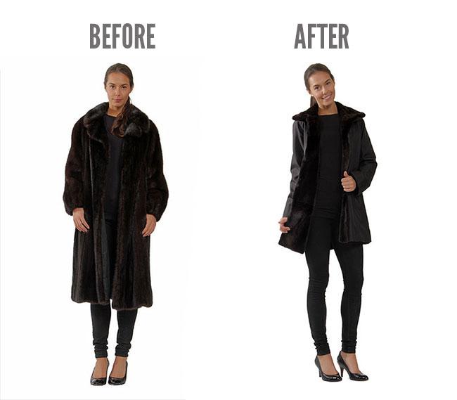 recycle old fur, fashion, remodelling, fur coat, Mano Swartz