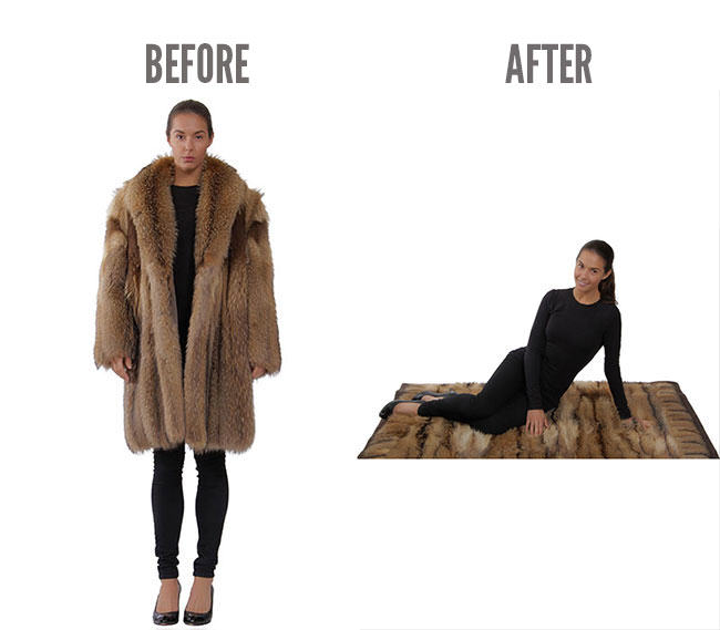 recycled fur, fashion, remodelling, fur coat, old