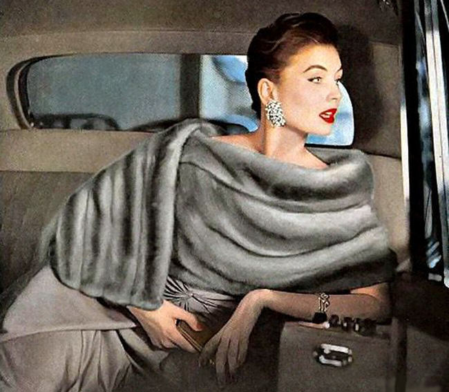Suzy Parker, vintage fur