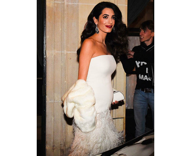 Spring fur fashion tips, Amal Clooney in fur