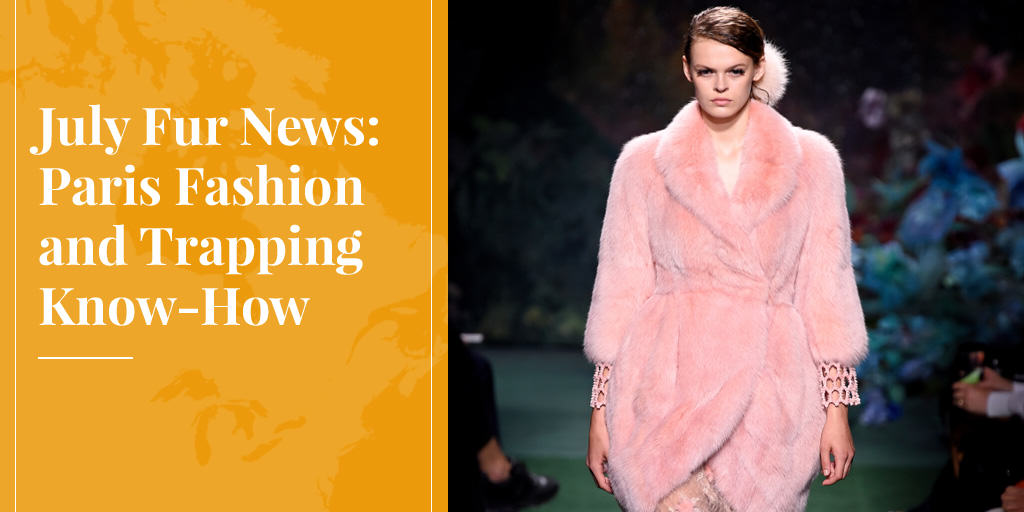 July Fur News: Paris Fashion and Trapping Know-How