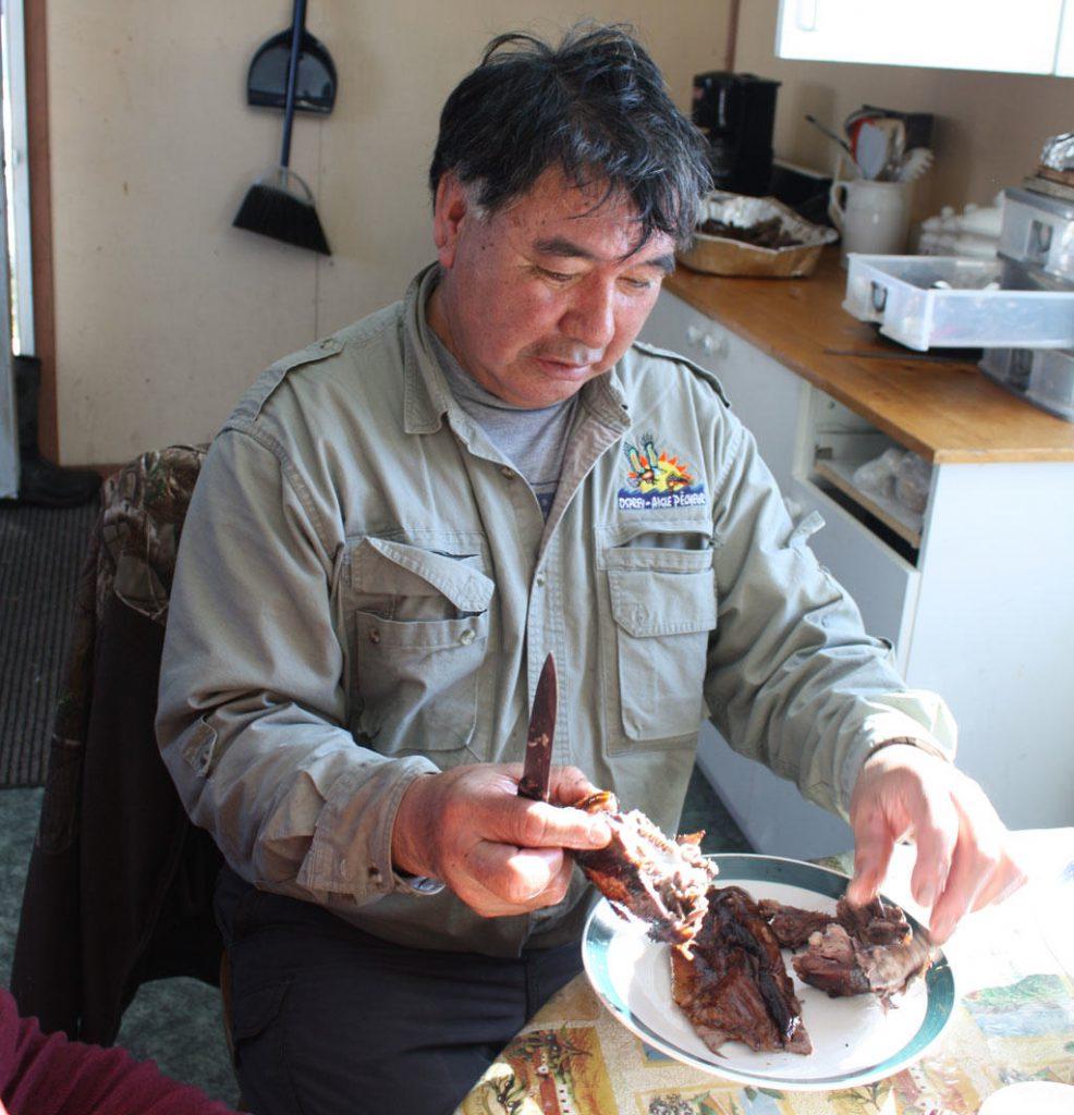Eating beaver meat