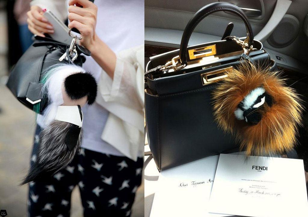 Fendi Karlito is a popular bag charm
