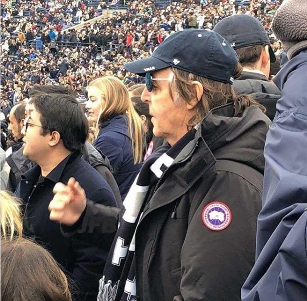 Paul McCartney wears Canada Goose