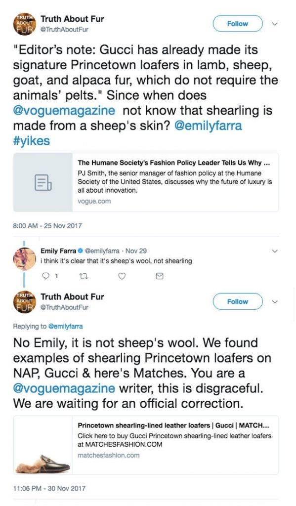 vogue does not understand sheep fur