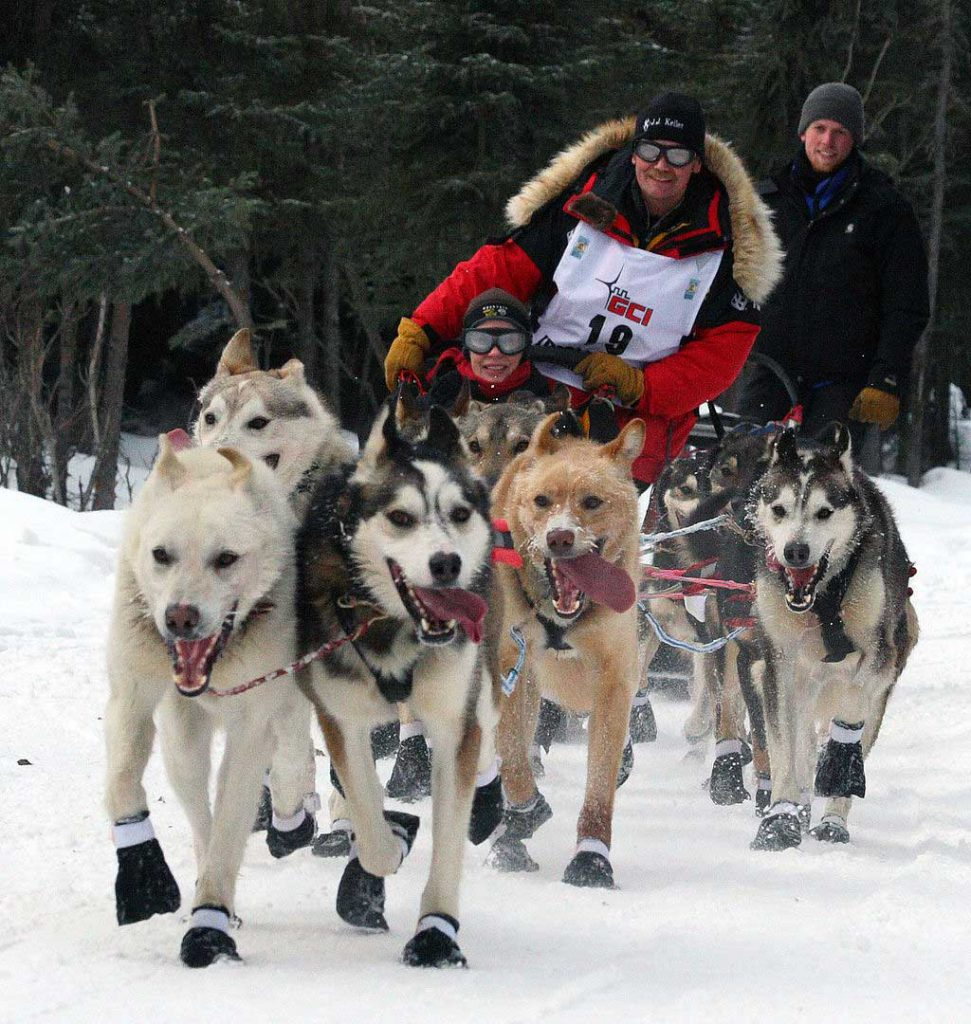 Fur trim is worn by Iditarod racers