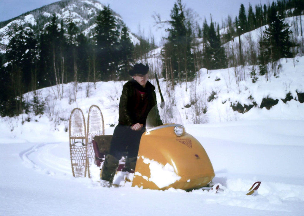 snowmobiles were once rare on a trapline