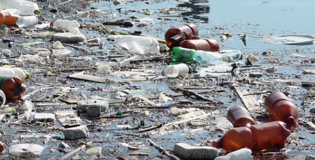 non-biodegradable plastics pollute our waterways