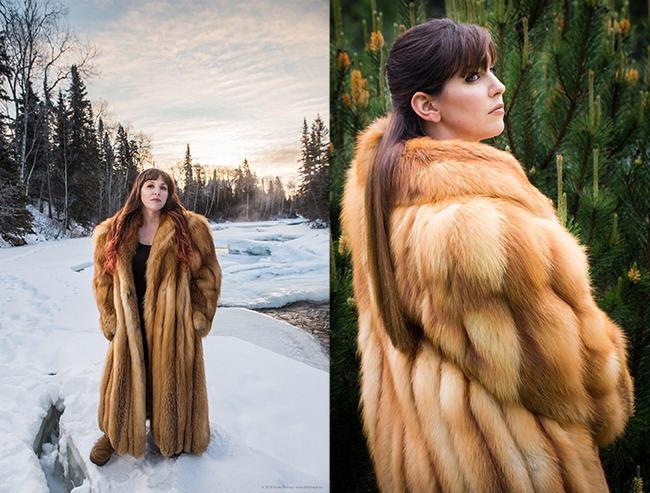 fox coat made from 27 pelts