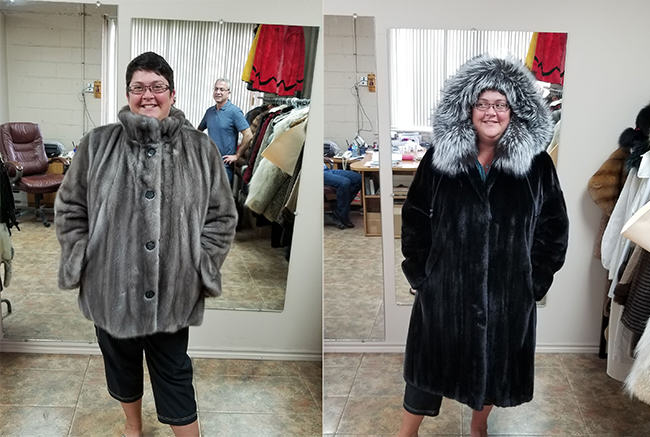 remodeled fur coat