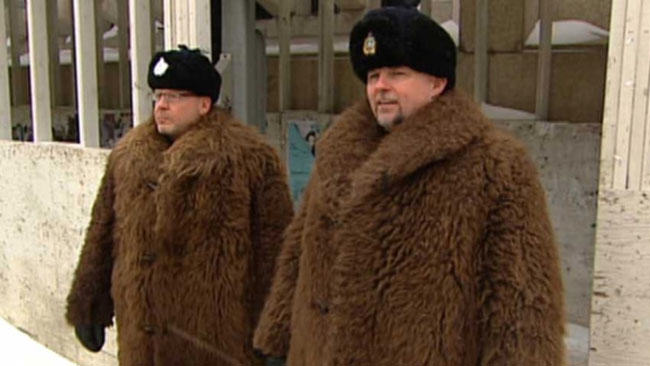 fur coats made from buffalo
