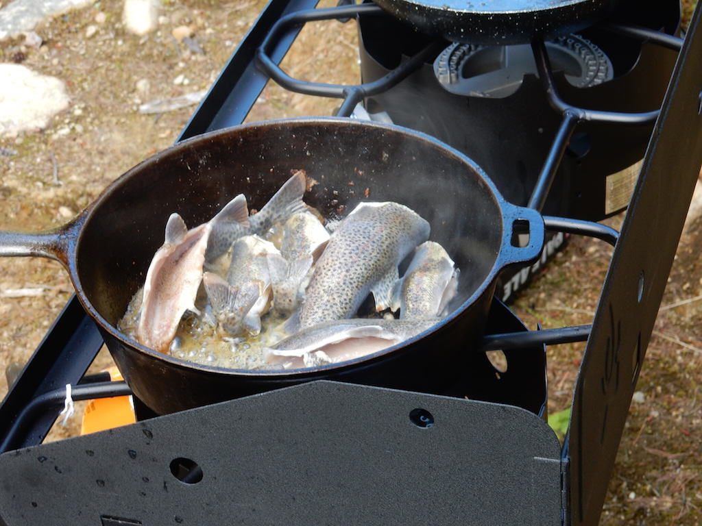 fish fry in the Selkirk Mountains