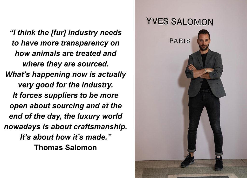 Yves Salomon likes natural fur