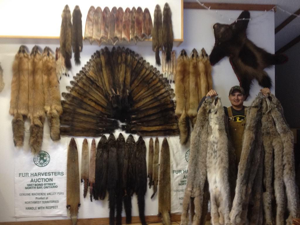 Robert Grandjambe and pelts