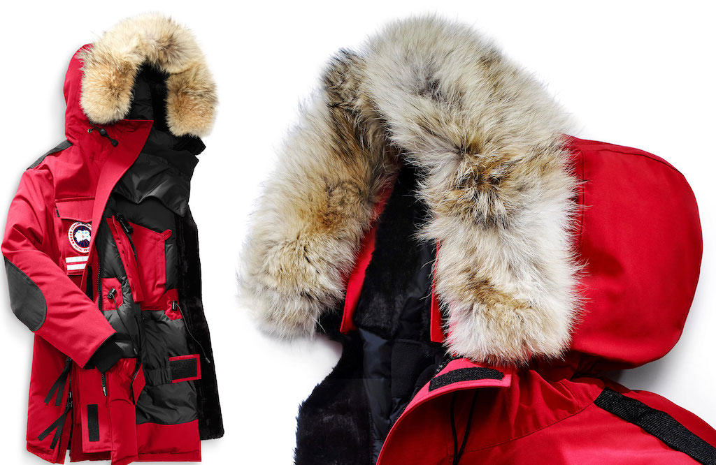 fur-trimmed parkas from Canada Goose