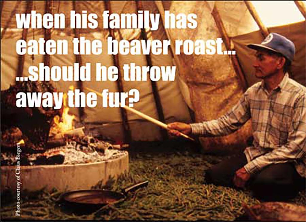 Cree roasting beaver