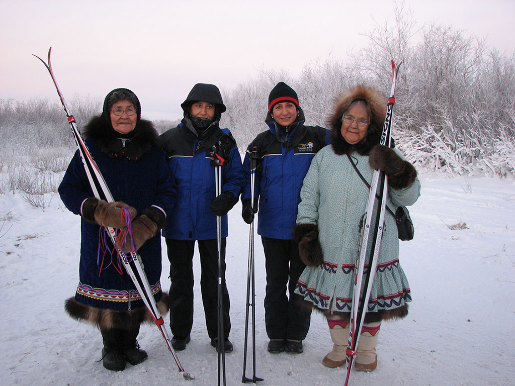 Sharon and Shirley Firth in Aklavik