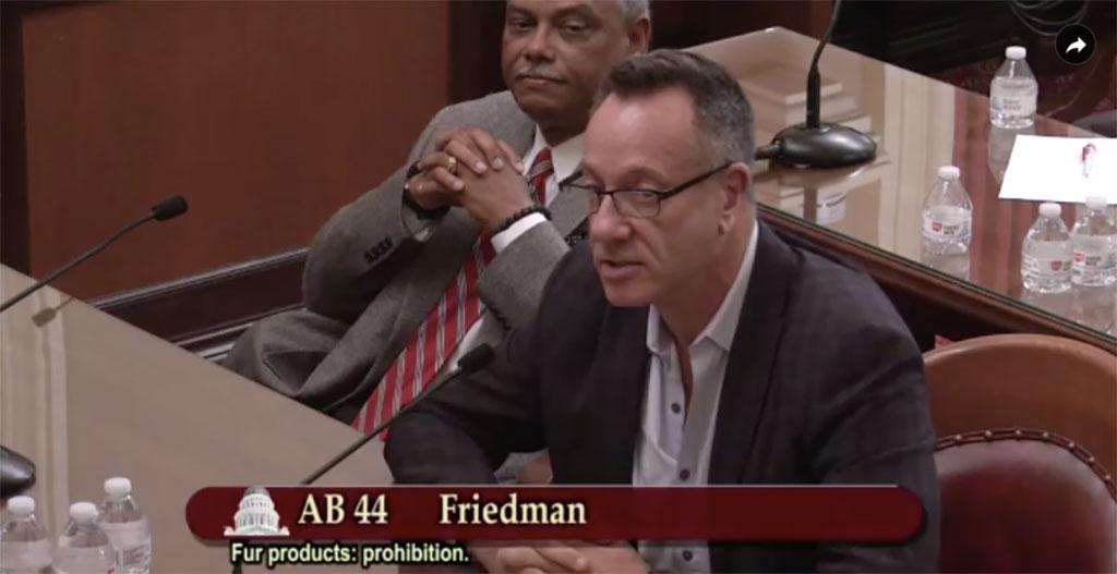 Keith Kaplan on California fur ban