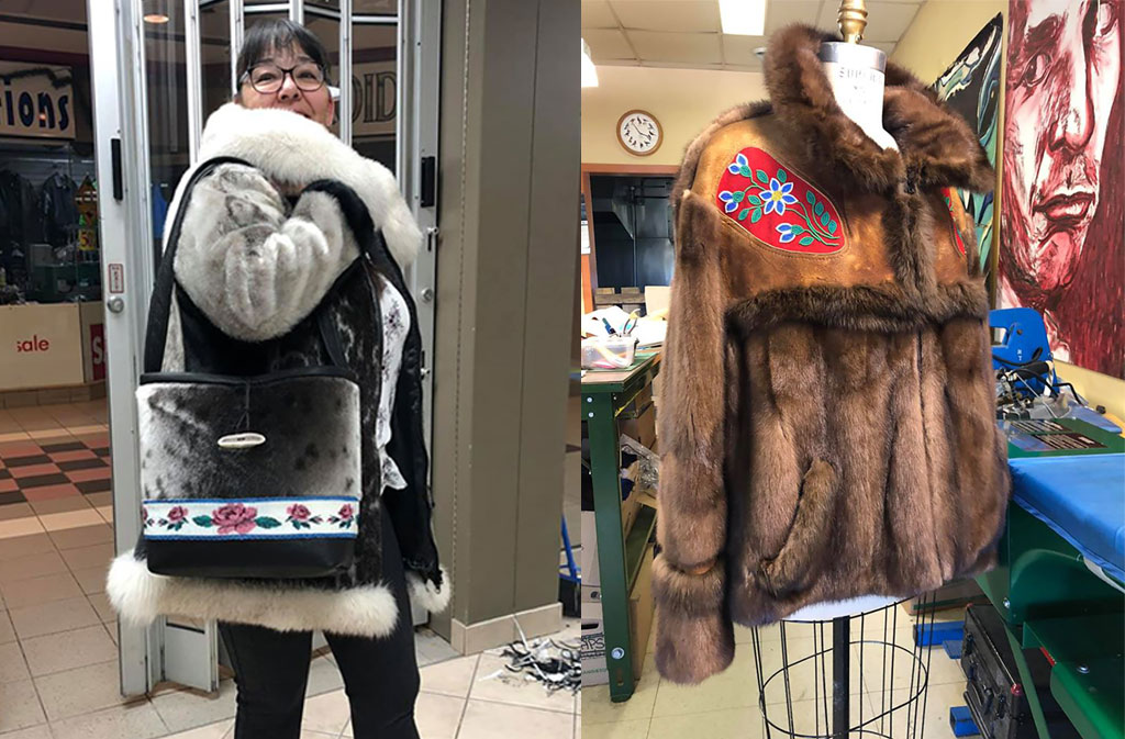Fur jackets by D'Arcy Moses