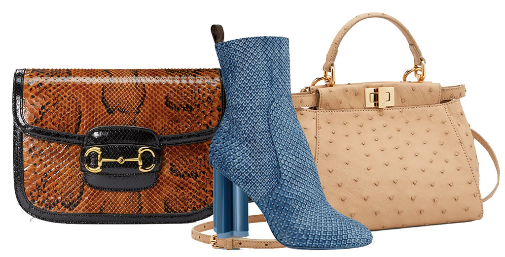 exotic skins from Kering and LVMH