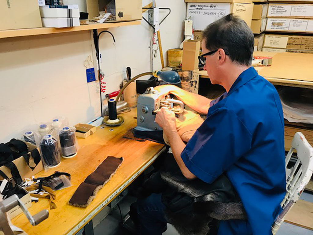 John Kahnert sewing