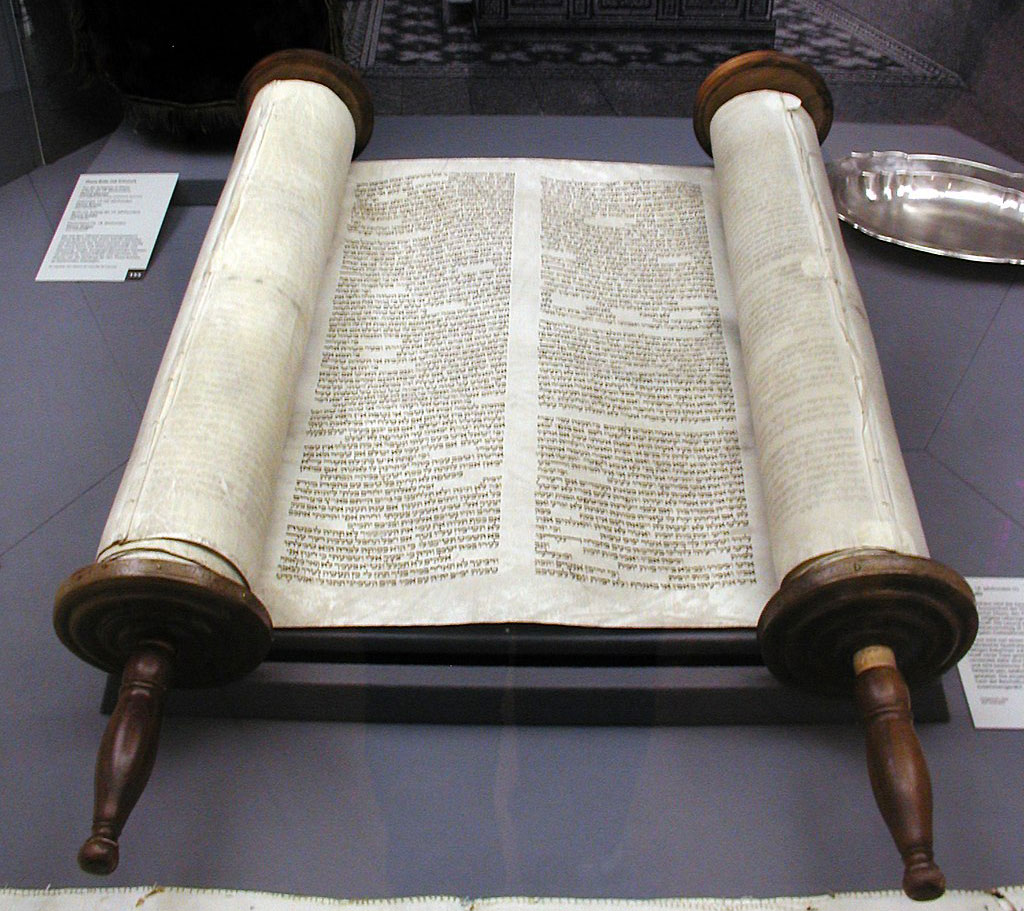 Torah written on parchment