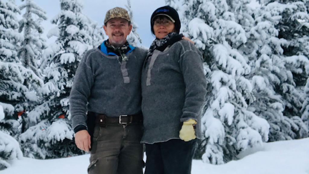 Indigenous fur harvesters Tom and Karen Dunstan