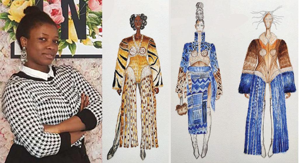 Ganador del concurso de diseño de pieles Prudence Mekongue