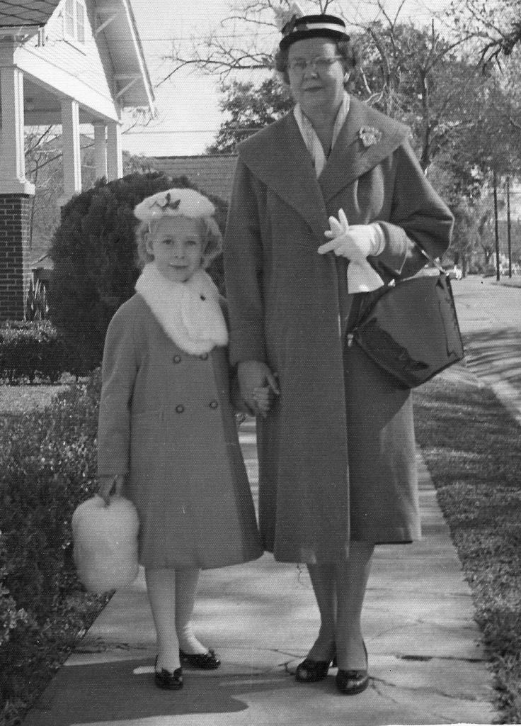 young Sheila Schmutz in fur clothing