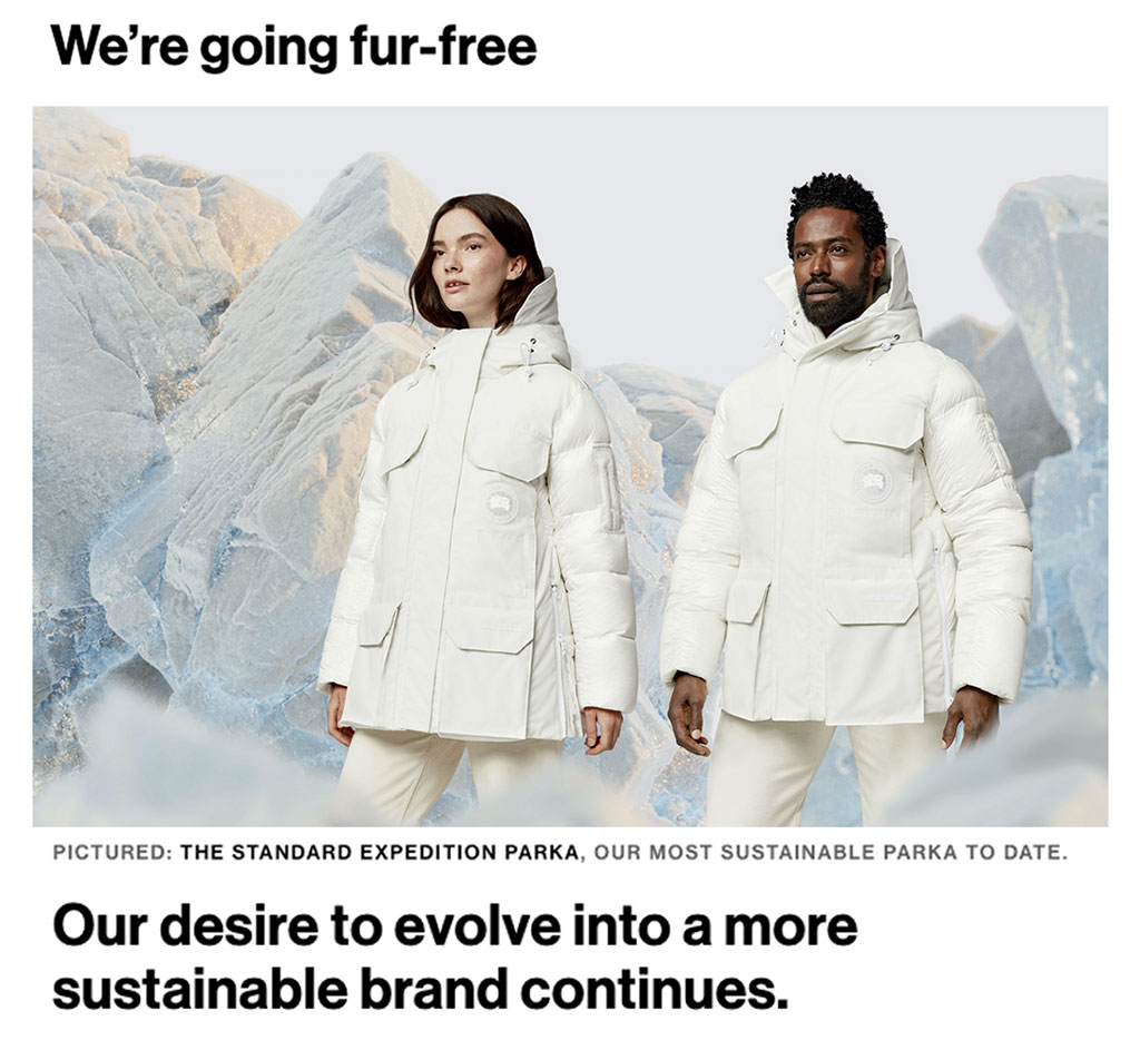 Canada Goose compares chalk and cheese